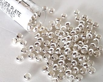Silver Plated Size 6 Metal Seed Bead Approx 30 grams