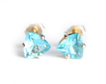 Triangle Apatite Post Earrings (1867)