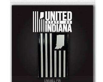 United State of Indiana Flag Enamel Pin