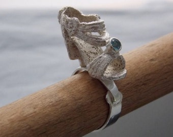 high heel shoe ring-- 1 of 4, first edition blue topaz