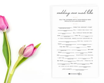 Wedding vow mad libs etsy instant download original wedding vow mad libs printable wedding shower help the lovebirds junglespirit Gallery