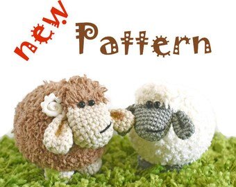 Crochet pattern of sheep (Amigurumi tutorial PDF file)