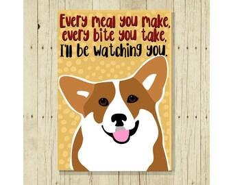 Corgi Magnet, Dog Magnet, Dog Lover Gift, Fridge Magnet, Refrigerator Magnet, Funny Dog Gift