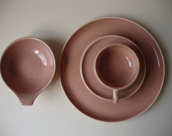 Russel Wright, 4pc Place Setting, Stubenville Pottery.