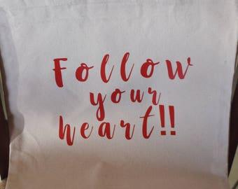 Follow your Heart Canvas Bag
