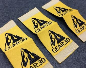 350 woven labels custom, clothing labels custom