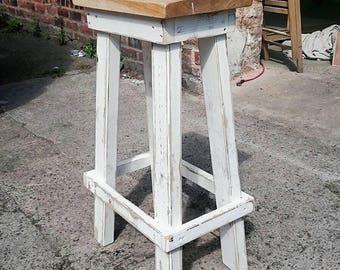 Shabby chick bar stool