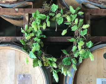 Beer hop wreath