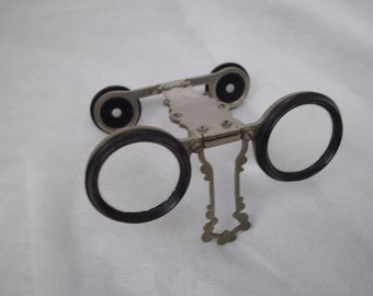 Vintage French folding opera glasses, binoculars, eye wear,  costume , accessories