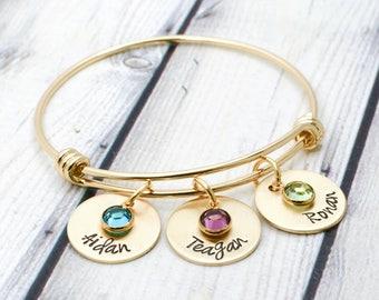 Custom Bracelet for Women - Mothers Day Gift for Her - Gold Bracelet for Mom - Mom Bracelet - Grandmother Bracelet - Grandma Gift