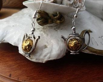 Teapot Earrings - 1920s Art Deco