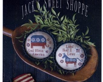 Plum Street Samplers: Party Tarts  - a Jack's Sweet Shoppe Cross Stitch Pattern