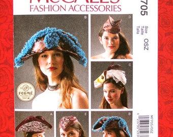 McCall's Sewing Pattern M7705 Hats, Tricorn Bicorn, Garrison Cap, Fascinator, Costume Fashion Accessory, XS S M L, CosPlay Millinery, UNCUT