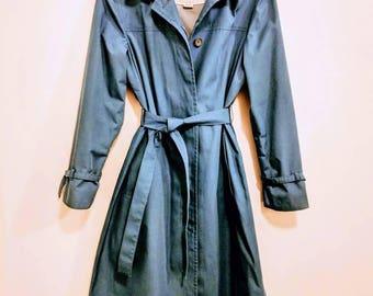Blue London Fog Trench Coat