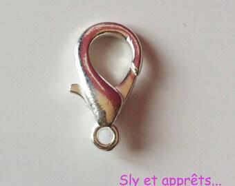 2 hooks in silver 19mm