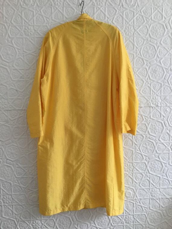 Yellow 1980's Vintage Maxi Statement Bennetton Duster Sunny Jacket Slicker Large 80s Size City Neon Slick Bright Piece Rain Designer 5Y5qrvxzn