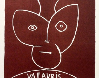 """Picasso 76 """"Exposition Vallaris 1955"""" printed 1959 by Mourlot"""