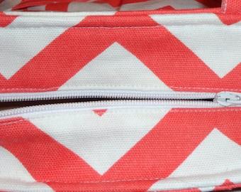 Add a full zipper to any diaper bag