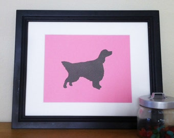 SALE! Dots III- English Setter Silhouette