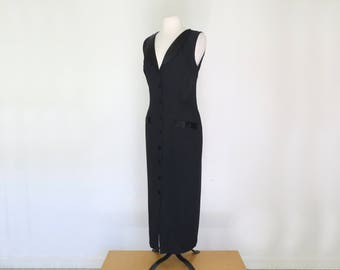 DITA // 80s black tuxedo double breasted dress