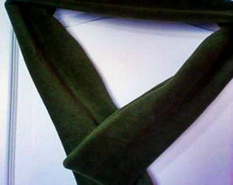 mixed scarf green fleece
