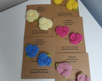 Flower Hair Grips, Slides, Clips