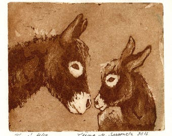 The two of us / original etching and aquatint