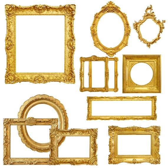 Cuadro oro marco Clipart marcos de fotos digitales marco