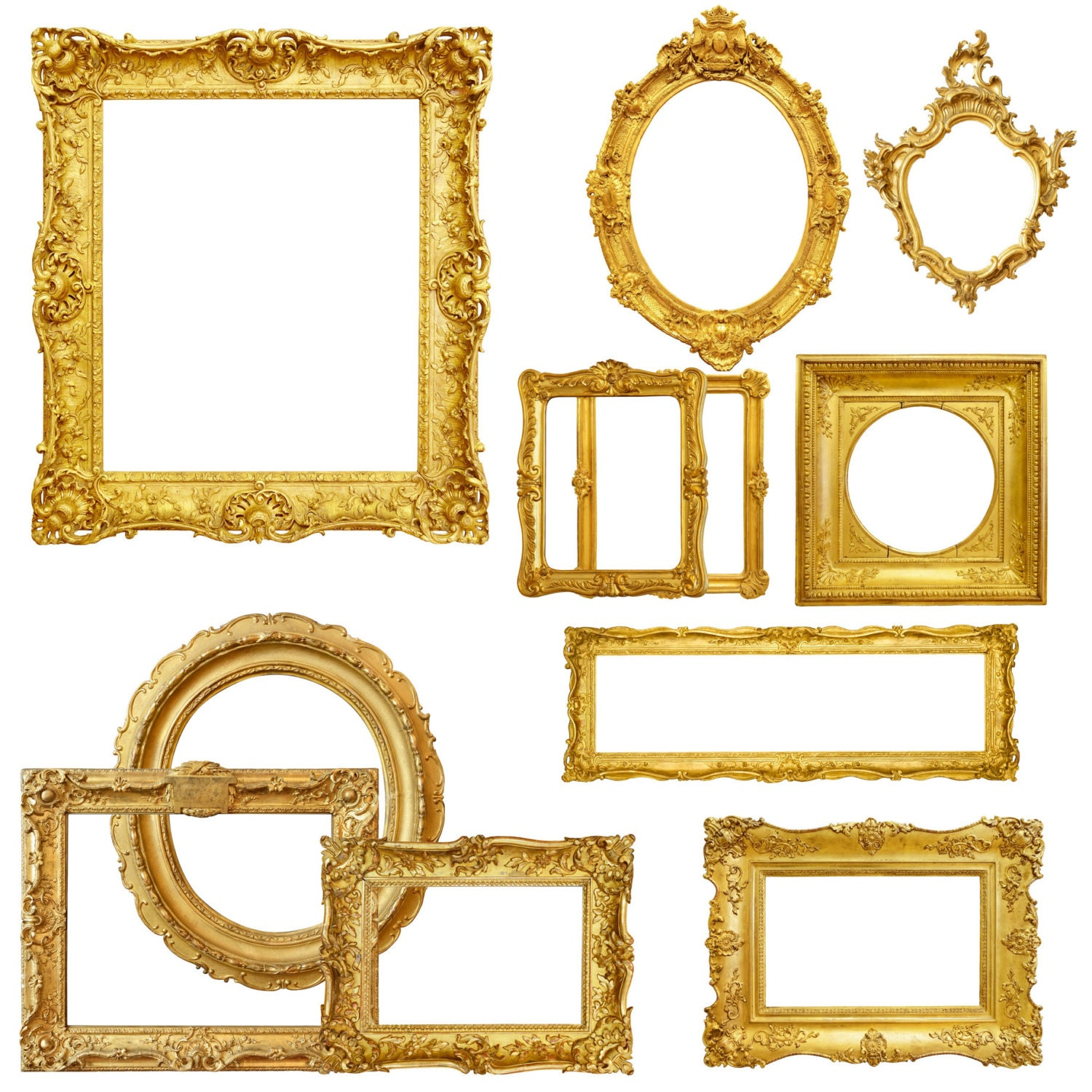 Gold picture frame clipart digital picture frames frame clip art this is a digital file jeuxipadfo Gallery