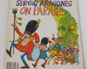 Vintage MAD MAGAZINE Comic Book, Mad's Sergio Aragones On Parade Collection Best of MAD #1, Humor, Satire, A Mad Big Book, 60s 70s Topics
