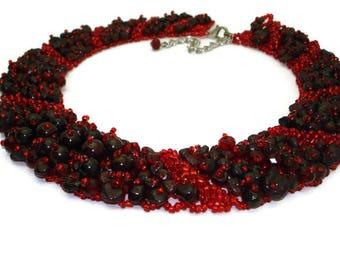 Garnet necklace January birthstone Aquarius necklace zodiac jewellery Energy necklace Protection necklace chakra stones Zodiac necklace gift