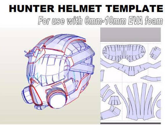 Helmet Hunter. 'Rogue' Template for EVA foam helmet