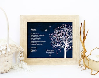 Custom Poem Print | Mother Of The Groom Gift | Father Of The Bride Gift | Gift For Mom | Wedding Gift | Mother Of The Bride Gift - 54777