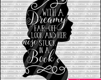 Belle quote, Beauty and the Beast, Quote DIY Cutting File - SVG, PNG, Dxf Files - Silhouette Cameo