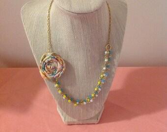 Petite Springtime Rosette Necklace