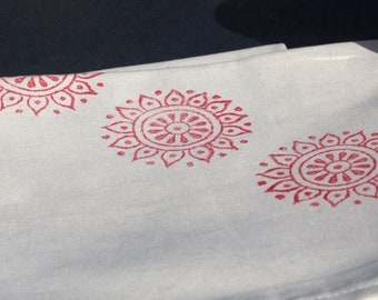 Napkins Indian Daisy Red Set of 4
