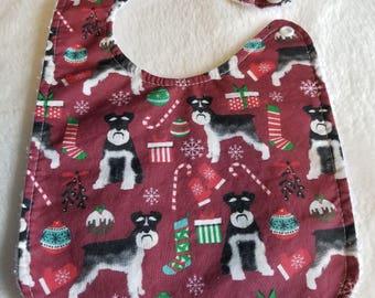 Baby Bib - Christmas Schnauzers