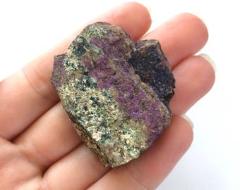 Purpurite natural rough stone purple 1.5 inch