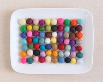 Felt Pom-Poms, Small // Felt Balls by Benzie // Felt Garland, Felt Balls, DIY Felt Garland Kit, Wool Felt Balls, Felted Balls, Felt Bead