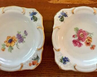 Vintage German Butter Pat Plates (2)
