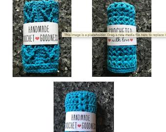 PDF Instant Download Three Crochet Cotton Dish Cloth Patterns