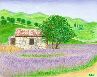 STONEHOUSE IN PROVENCE Print by Gray Harwell