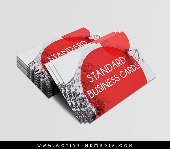 Business cards standard printing 16 thick stock high gloss colourmoves