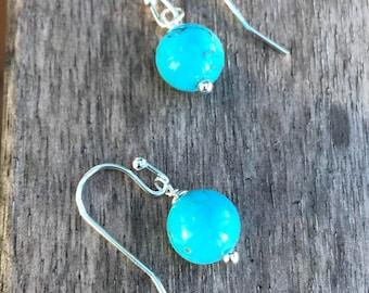 Turuoise, Turquoise earrings, Southwestern, Dangle, Simple, Minimalist, jewelry, Boho earrings, Bridesmaid gifts, Southwestern, Bridal