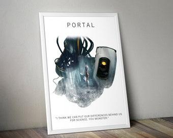 Portal A3 Game Art Print