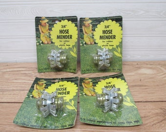 Brand New Vintage 3/4 inch Hose Menders/Garden Hose Menders lot of 4