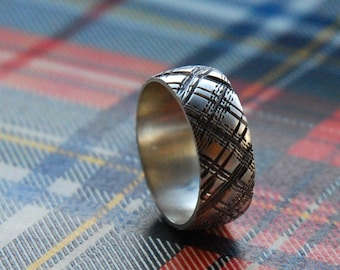 PLAID 2 sterling silver ring size 7