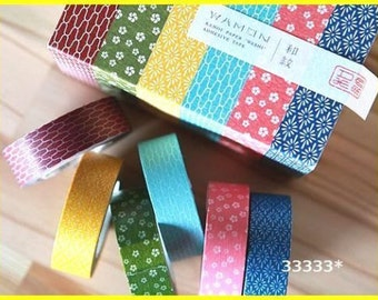 6 colors masking tape washi made in Japan wamon
