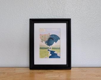 "Giclee Print— ""Sky Beast"" 5''x7''"