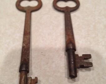 Vintage Long Brass Keys